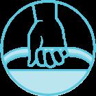 Ergonomic Handle Icon